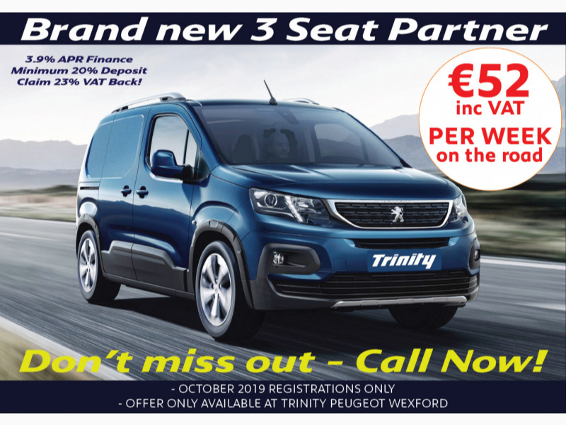 2019 Peugeot Partner 3 SEAT FROM €52 PER WEEK! ONLY FOR OCTOBER 2019! Price €POA