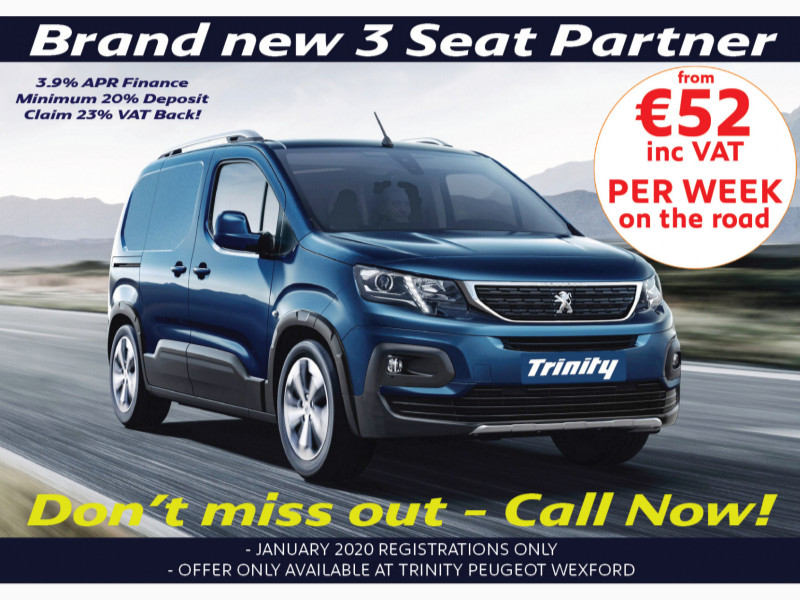 2020 Peugeot Partner 3 SEAT FROM €52 PER WEEK! ONLY FOR NOVEMBER 2019! Price €POA