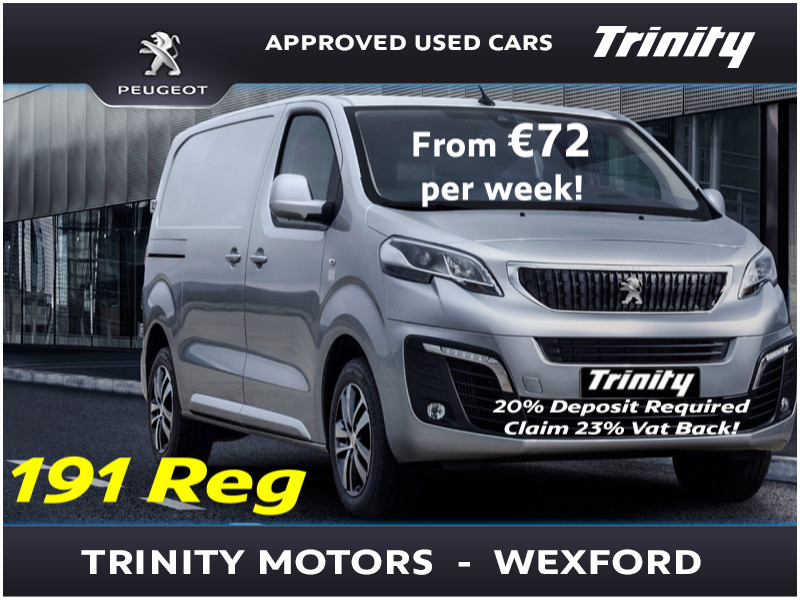 2019 Peugeot Expert FROM €72 PER WEEK..3.9% APR Finance. NOW AVAILABLE TO ORDER FOR 191 Price €POA